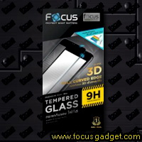 โฟกัสกระจกนิรภัย 3D ถนอมสายตา (สีดำ) Apple iPhone 7 Plus