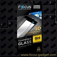 โฟกัสกระจกนิรภัยเต็มจอ 3D ลงโค้ง (สีขาว) Apple iPhone 6 Plus