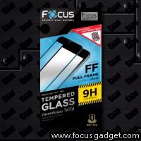 โฟกัสกระจกนิรภัยเต็มจอแบบด้าน (สีดำ) Apple iPhone 6 Plus