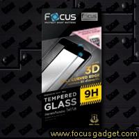 โฟกัสกระจกกันรอย 3D Smooth Curved (สีขาว) Apple iPhone 6 Plus
